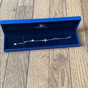 NEW Swarovski Sterling Silver Cross Bracelet
